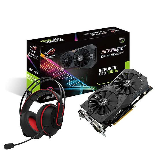Carte graphique Asus GeForce GTX 1050 Ti STRIX OC + Cerberus V2