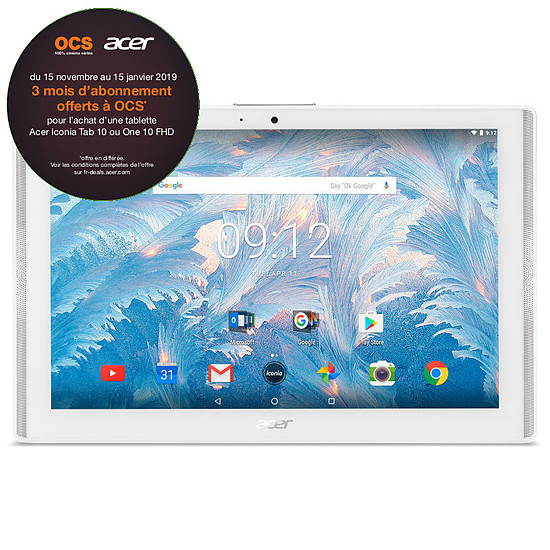 Tablette Acer Iconia One 10 (B3-A40-K8WA)