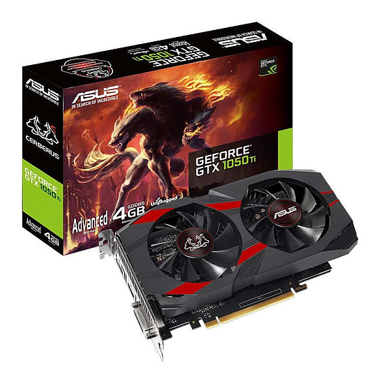 Carte graphique Asus Cerberus GeForce GTX 1050 Ti  Advanced - 4 Go