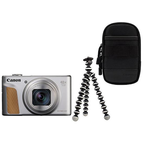 Appareil photo compact ou bridge Canon PowerShot SX740 HS Silver + Etui + Gorillapod