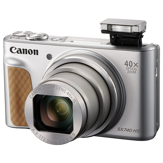 Appareil photo compact ou bridge Canon PowerShot SX740 HS Silver + Etui + Gorillapod - Autre vue