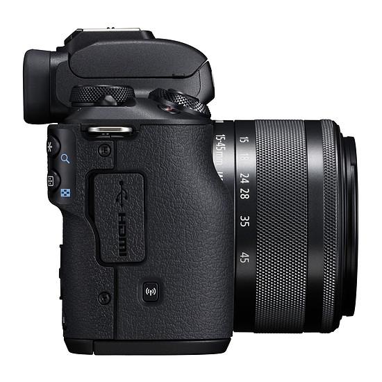 Appareil photo hybride Canon EOS M50 Noir + EF-M 15-45 mm IS STM Noir + Carte SD Sandisk 16 GO + Sacoche SB130 - Autre vue