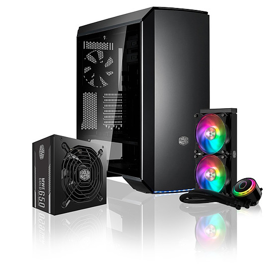 Boîtier PC Pack COOLER MASTER MC600P + MWE 650 + ML240R RGB