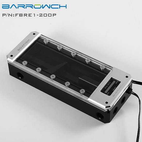Watercooling BARROW FBRE1-200P - Réservoir Boxfish 200 mm POM - Argent