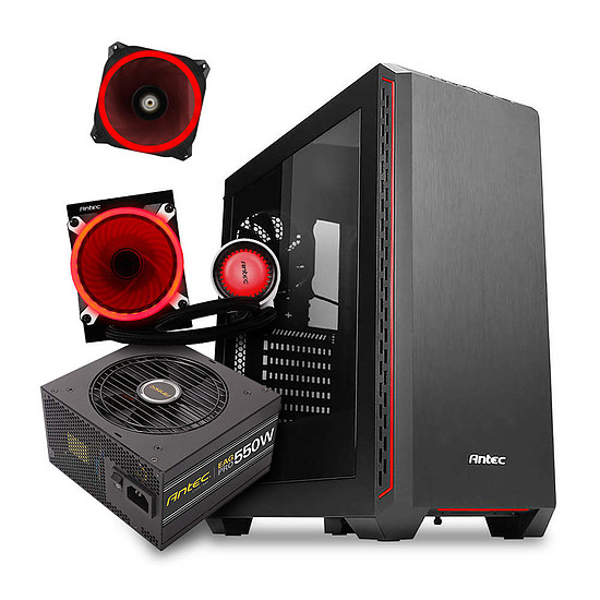 Boîtier PC Pack ANTEC P7 + EA550G PRO 550W + M120 RGB + PRIZM 120 RGB