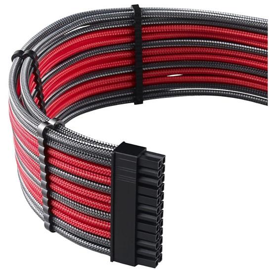 Alimentation CableMod PRO ModMesh C-Series RMi & RMx Cable Kit - Carbone / Rouge - Autre vue