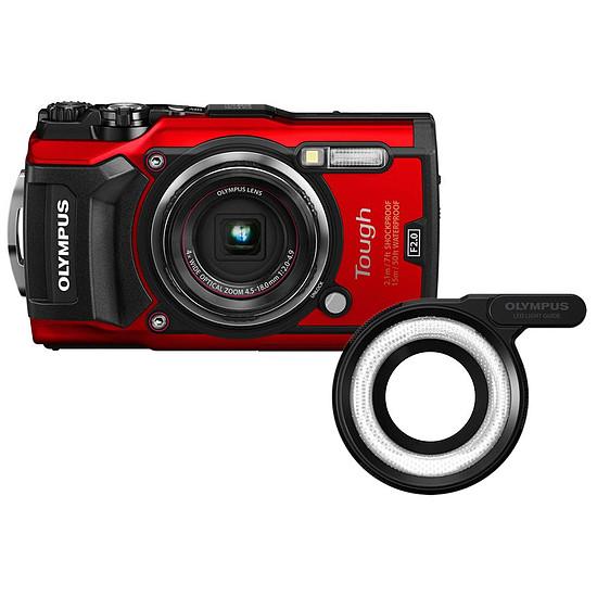 Appareil photo compact ou bridge Olympus Tough TG-5 Rouge + LG-1