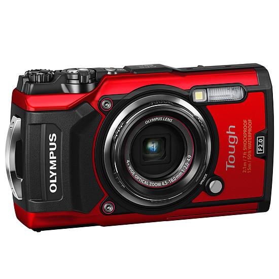 Appareil photo compact ou bridge Olympus Tough TG-5 Rouge + LG-1 - Autre vue