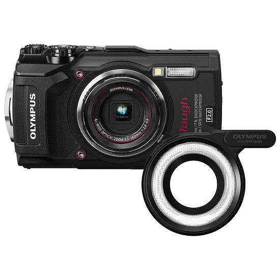 Appareil photo compact ou bridge Olympus Tough TG-5 Noir + LG-1