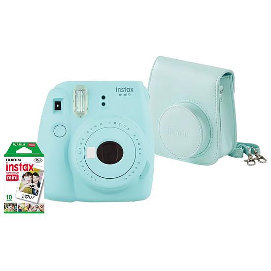 Appareil photo compact ou bridge Fujifilm Instax MINI 9 Bleu givré + Housse + Films