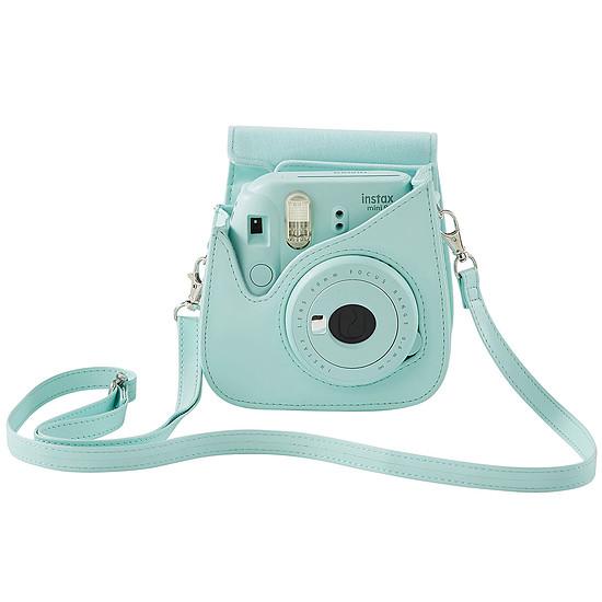Appareil photo compact ou bridge Fujifilm Instax MINI 9 Bleu givré + Housse + Films - Autre vue