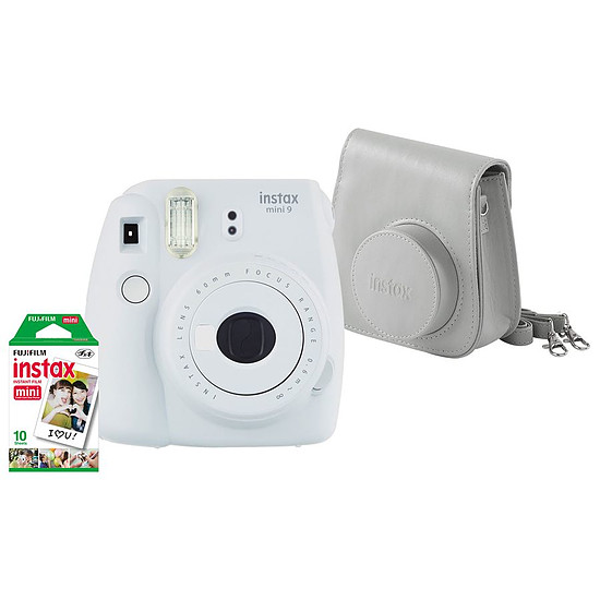 Appareil photo compact ou bridge Fujifilm Instax MINI 9 Blanc + Housse + Films