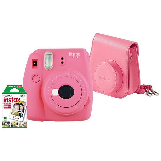 Appareil photo compact ou bridge Fujifilm Instax MINI 9 Rose + Housse + Films