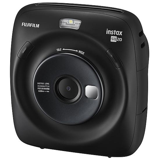 Appareil photo compact ou bridge Fujifilm instax Square SQ20 Noir + Carte microSD Verbatim 16 GO + Instax Bipack Square - Autre vue