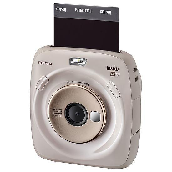 Appareil photo compact ou bridge Fujifilm instax Square SQ20 Beige + Carte microSD Verbatim 16 GO + Instax Square Bipack - Autre vue