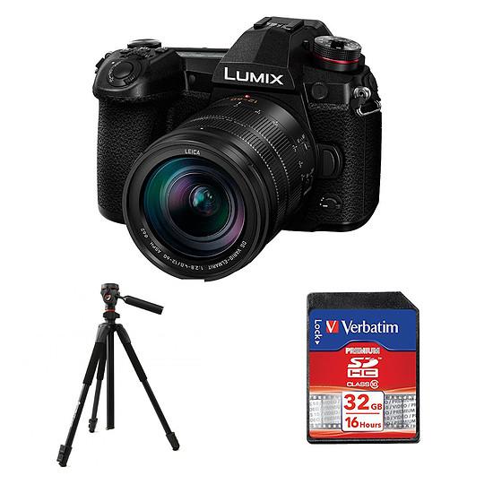 Appareil photo hybride Panasonic DC-G9 + DG Vario 12-60 mm f/2.8-4.0 Leica + Carte SD Verbatim 32 GO + Starblitz TSA203P