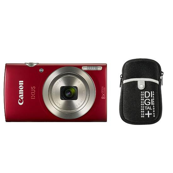 Appareil photo compact ou bridge Canon Ixus 185 Rouge + Etui Vanguard Beneto 6 Noir