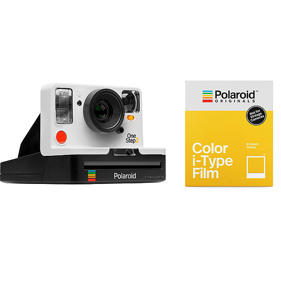 Appareil photo compact ou bridge Polaroid OneStep 2 VF Blanc + COLOR I-TYPE FILM