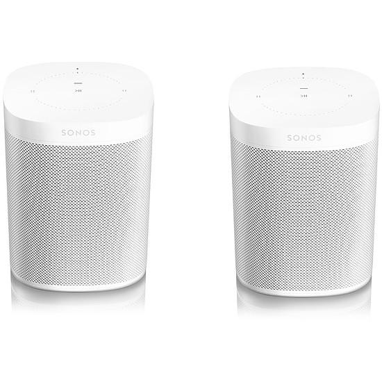 Système Audio Multiroom Sonos ONE Blanc (La paire)