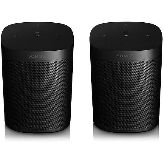 Système Audio Multiroom Sonos ONE Noir (La paire) - Enceinte compacte