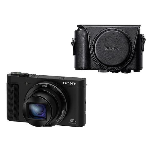 Appareil photo compact ou bridge Sony HX90V (GPS) + Etui cuir Sony LCJHWAB
