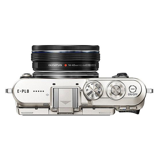 Appareil photo hybride Olympus PEN E-PL8 noir + EZ Pancake 14-42 mm + 3 dragonnes - Autre vue
