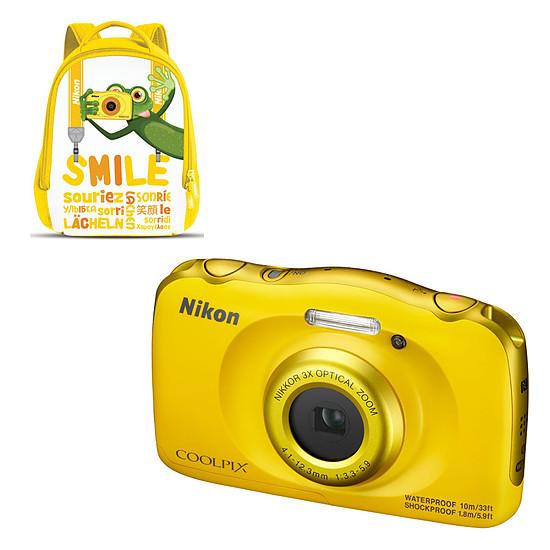 Appareil photo compact ou bridge Nikon Coolpix W100 Jaune + Sac à dos