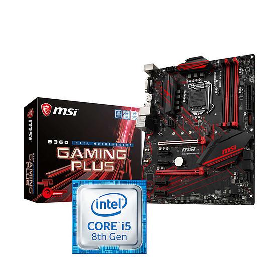 Kit d'évolution PC Intel Core i5-8400 + MSI B360 GAMING PLUS