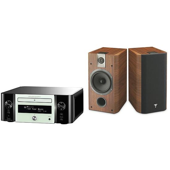 Mini-chaine Marantz MCR611 N1W  Melody Stream, Radio internet, WiFi + Focal Chorus 706 Walnut-Noyer (la paire)
