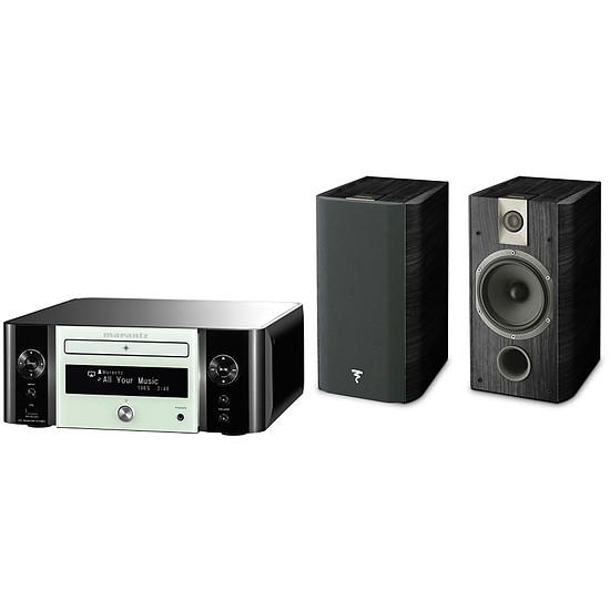 "Mini-chaine Marantz MCR611 N1W  Melody Stream, Radio internet, WiFi + Focal Chorus 706 Noir ""Black Ash"""