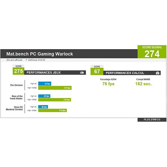PC de bureau Materiel.net Warlock [ Win10 - PC Gamer ] - Autre vue