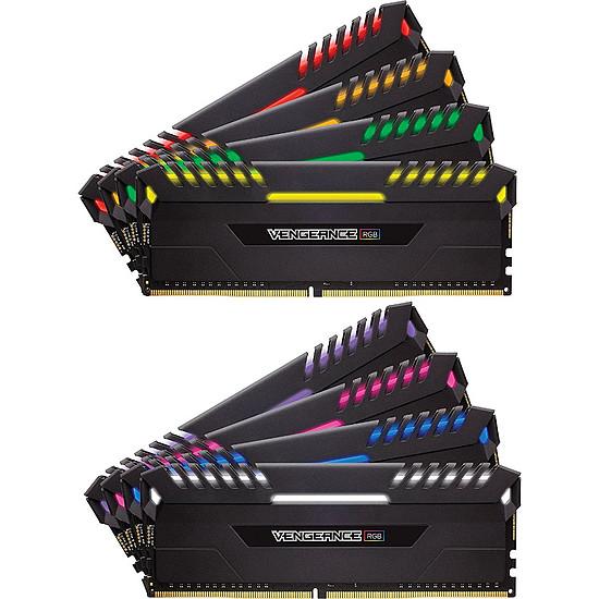 Mémoire Corsair Vengeance RGB DDR4 8 x 8 Go 3200 MHz CAS 16