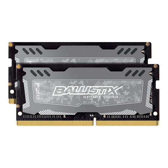 Mémoire Ballistix SO-DIMM Sport LT DDR4 2 x 4 Go 2400 MHz