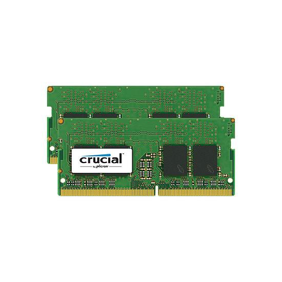 Mémoire Crucial 16 Go (2 x 8 Go) DDR4 2400 MHz CL17 SR SO-DIMM