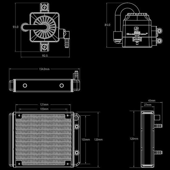 Refroidissement processeur DeepCool Gamer Storm Captain 120 EX V2 Blanc - Autre vue