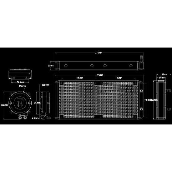 Refroidissement processeur DeepCool Gamer Storm Maelstrom 240 RGB - Autre vue
