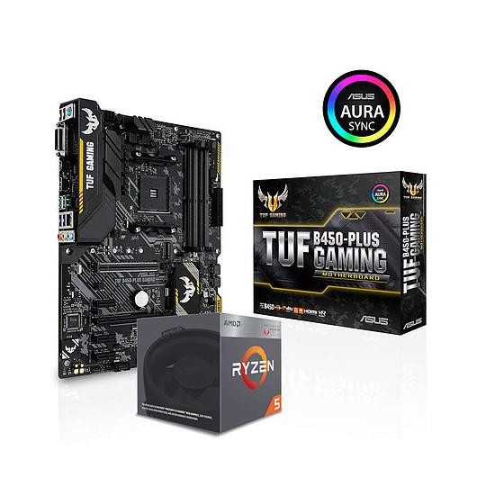 Kit upgrade PC AMD Ryzen 5 2400G + Asus TUF B450-PLUS GAMING
