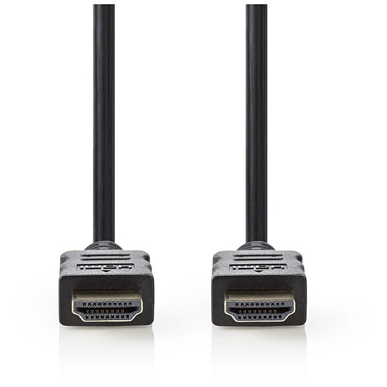 Câble HDMI NEDIS Câble HDMI haute vitesse avec Ethernet Noir (1 mètre)