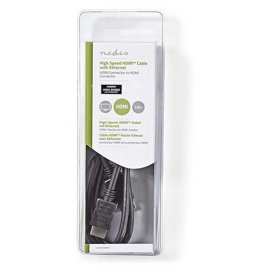 HDMI NEDIS Câble HDMI haute vitesse avec Ethernet Noir (3 mètres) - Autre vue