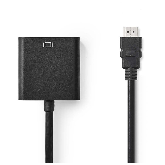 HDMI NEDIS Câble HDMI vers VGA + Jack Noir (20 cm)