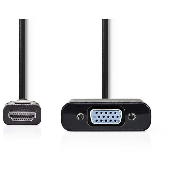 HDMI NEDIS Câble HDMI vers VGA + Jack Noir (20 cm) - Autre vue