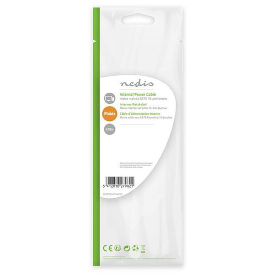 Alimentation NEDIS Adaptateur d'alimentation Molex vers SATA - Autre vue