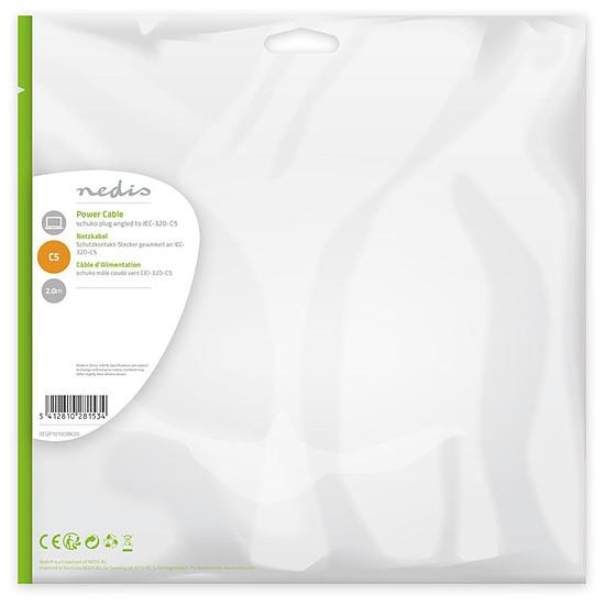 Alimentation NEDIS Câble d'alimentation pour PC, moniteur et onduleur blanc - 2 mètres - Autre vue