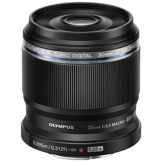 Objectif pour appareil photo Olympus M.ZUIKO DIGITAL ED 30mm 1:3.5 Macro Noir