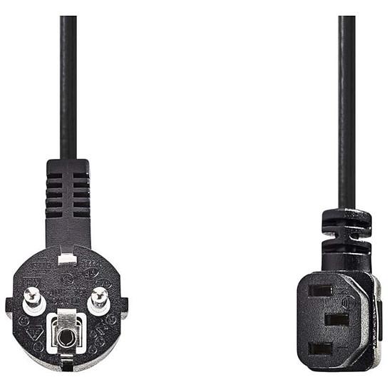 Alimentation NEDIS Câble d'alimentation coudé pour PC, moniteur et onduleur noir - 2 mètres - Autre vue