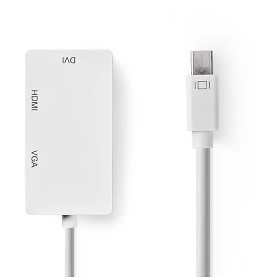 DisplayPort NEDIS Adaptateur Mini-DisplayPort vers HDMI, DVI et VGA (Mâle/Femelle)