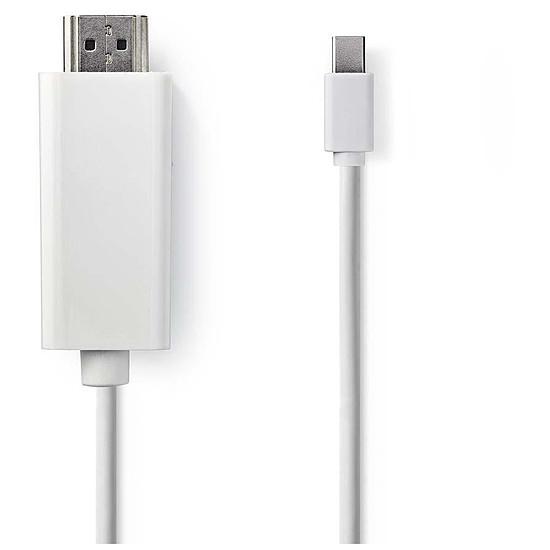 DisplayPort NEDIS Cordon mini DisplayPort Mâle vers HDMI mâle - Autre vue