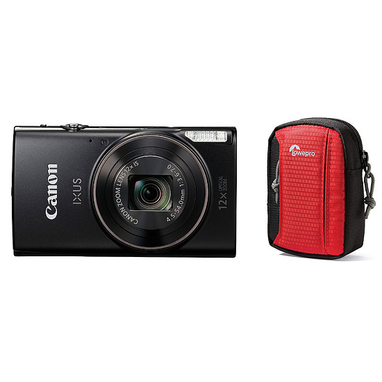 Appareil photo compact ou bridge Canon IXUS 285 HS Noir + Lowepro Tahoe 15 II Rouge
