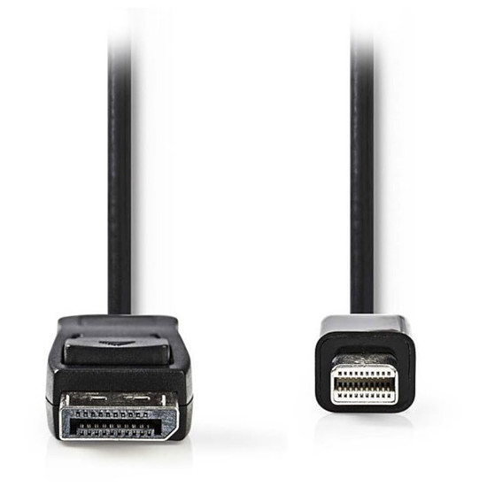 DisplayPort NEDIS Câble DisplayPort mâle vers Mini DisplayPort mâle 4K Noir (1 mètre)