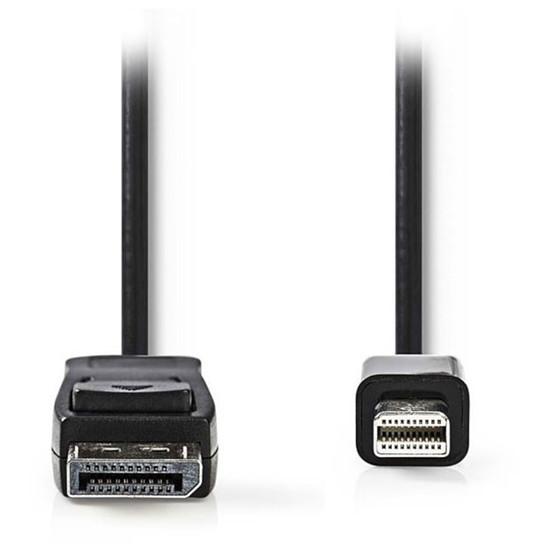 DisplayPort NEDIS Câble DisplayPort mâle vers Mini DisplayPort mâle 4K Noir (2 m)
